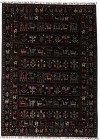 Shabargan Tapis 150X205 Moderne Fait Main Marron Foncé (Laine, Afghanistan)