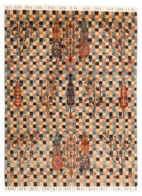 Shabargan Tapis 149X198 Moderne Fait Main Marron Clair/Marron Foncé (Laine, Afghanistan)