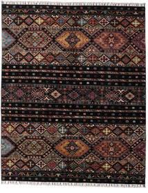 Shabargan Tapis 156X190 Moderne Fait Main Marron Foncé/Gris Foncé (Laine, Afghanistan)