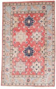 Kazak Tapis 121X190 D'orient Fait Main Gris Clair/Rose Clair (Laine, Afghanistan)