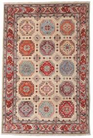 Kazak Tapis 118X179 D'orient Fait Main Marron Foncé/Gris Clair (Laine, Afghanistan)