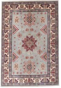 Kazak Tapis 121X179 D'orient Fait Main Gris Clair/Marron Foncé (Laine, Afghanistan)