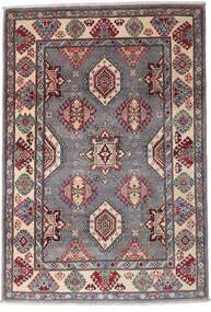 Kazak Tapis 120X173 D'orient Fait Main Marron Foncé/Gris Clair (Laine, Afghanistan)