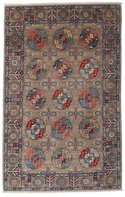 Kazak Tapis 115X182 D'orient Fait Main Gris Clair/Marron Foncé (Laine, Afghanistan)
