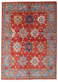 Kazak Tapis 144X203 D'orient Fait Main Rouge Foncé/Rouille/Rouge (Laine, Afghanistan)