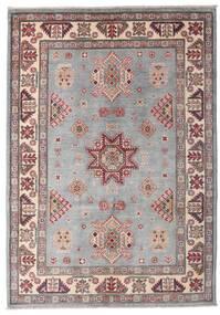 Kazak Tapis 127X180 D'orient Fait Main Gris Clair/Rose Clair (Laine, Afghanistan)