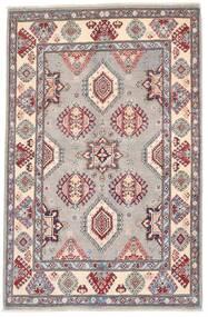 Kazak Tapis 118X182 D'orient Fait Main Gris Foncé/Gris Clair (Laine, Afghanistan)