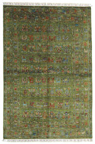 Sharbargan Tapis 168X249 Moderne Fait Main Vert Olive/Vert Foncé (Laine, Afghanistan)
