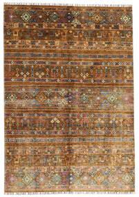 Shabargan Tapis 169X242 Moderne Fait Main Marron/Marron Foncé (Laine, Afghanistan)