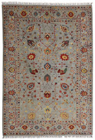 Shabargan Tapis 208X304 Moderne Fait Main Gris Clair/Marron Clair (Laine, Afghanistan)