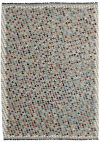 Kilim Afghan Old Style Tapis 169X234 D'orient Tissé À La Main Gris Clair/Gris Foncé (Laine, Afghanistan)