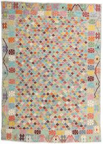 Kilim Afghan Old Style Tapis 165X232 D'orient Tissé À La Main Gris Clair/Rose Clair (Laine, Afghanistan)