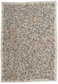 Kilim Afghan Old Style Tapis 210X287 D'orient Tissé À La Main Gris Clair/Gris Foncé (Laine, Afghanistan)