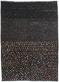 Kilim Moderne Tapis 206X277 Moderne Tissé À La Main Noir (Laine, Afghanistan)