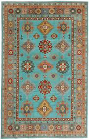 Kazak Tapis 198X313 D'orient Fait Main Bleu Turquoise/Vert Clair (Laine, Afghanistan)