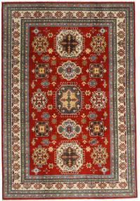 Kazak Tapis 201X293 D'orient Fait Main Rouge Foncé/Gris Foncé (Laine, Afghanistan)