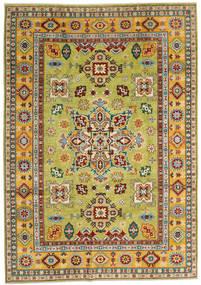 Kazak Tapis 205X289 D'orient Fait Main Rouge Foncé/Jaune (Laine, Afghanistan)