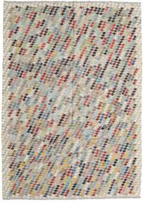 Kilim Afghan Old Style Tapis 207X287 D'orient Tissé À La Main Gris Clair/Marron Clair (Laine, Afghanistan)