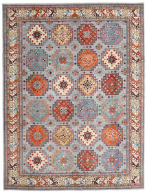 Kazak Tapis 258X338 D'orient Fait Main Gris Clair/Marron Foncé Grand (Laine, Afghanistan)