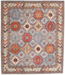 Kazak Tapis 255X295 D'orient Fait Main Gris Clair/Marron Clair Grand (Laine, Afghanistan)