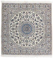 Naïn 9La Tapis 147X153 D'orient Fait Main Carré Gris Clair/Beige (Laine/Soie, Perse/Iran)