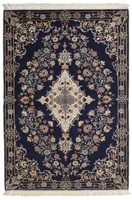Ispahan Chaîne De Soie Tapis 112X160 D'orient Fait Main Violet Foncé/Gris Clair/Gris Foncé (Laine/Soie, Perse/Iran)
