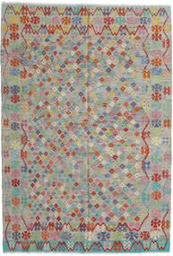 Kilim Afghan Old Style Tapis 203X295 D'orient Tissé À La Main Gris Clair/Marron Clair (Laine, Afghanistan)