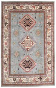 Kazak Tapis 195X304 D'orient Fait Main Gris Clair/Marron Clair (Laine, Afghanistan)