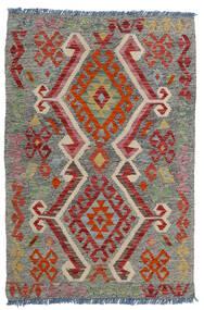 Kilim Afghan Old Style Tapis 80X118 D'orient Tissé À La Main Gris Foncé/Rouge Foncé/Gris Clair (Laine, Afghanistan)