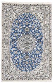 Naïn 9La Tapis 168X255 D'orient Fait Main Gris Clair/Bleu (Laine/Soie, Perse/Iran)
