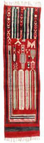 Berber Moroccan - Mid Atlas Tapis 82X304 Moderne Fait Main Tapis Couloir Rouille/Rouge/Noir (Laine, Maroc)