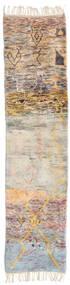 Berber Moroccan - Mid Atlas Tapis 74X297 Moderne Fait Main Tapis Couloir Gris Clair/Marron Foncé (Laine, Maroc)