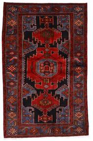 Hamadan Tapis 133X209 D'orient Fait Main Rouge Foncé/Rouille/Rouge (Laine, Perse/Iran)