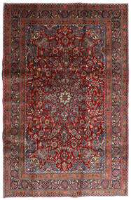 Mashad Tapis 198X301 D'orient Fait Main Rouge Foncé/Gris Foncé (Laine, Perse/Iran)
