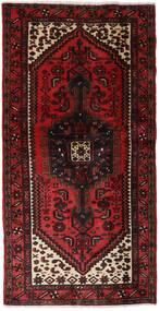 Hamadan Tapis 102X202 D'orient Fait Main Rouge Foncé (Laine, Perse/Iran)