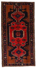 Hamadan Tapis 102X198 D'orient Fait Main Marron Foncé/Rouille/Rouge (Laine, Perse/Iran)