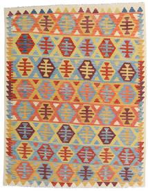 Kilim Afghan Old Style Tapis 157X202 D'orient Tissé À La Main Beige Foncé/Bleu Clair (Laine, Afghanistan)