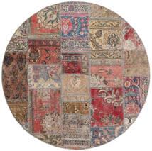 Patchwork - Persien/Iran Tapis Ø 150 Moderne Fait Main Rond Marron/Gris Clair (Laine, Perse/Iran)