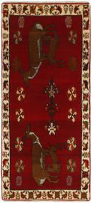 Ghashghaï Tapis 85X183 D'orient Fait Main Tapis Couloir Rouge Foncé/Marron Foncé (Laine, Perse/Iran)