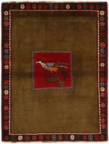 Ghashghaï Tapis 130X170 D'orient Fait Main Marron/Marron Foncé (Laine, Perse/Iran)