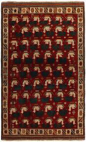 Ghashghaï Tapis 118X194 D'orient Fait Main Rouge/Rouge Foncé (Laine, Perse/Iran)