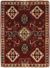 Ghashghaï Tapis 113X155 D'orient Fait Main Marron Foncé/Rouge Foncé (Laine, Perse/Iran)