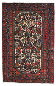 Rudbar Tapis 81X125 D'orient Fait Main Noir/Rouge Foncé (Laine, Perse/Iran)