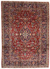 Kashan Tapis 196X275 D'orient Fait Main Rouge Foncé/Marron Foncé (Laine, Perse/Iran)
