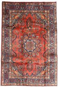 Mashad Tapis 196X290 D'orient Fait Main Rouge Foncé/Violet Foncé (Laine, Perse/Iran)