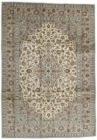 Kashan Tapis 248X354 D'orient Fait Main Marron Foncé/Noir (Laine, Perse/Iran)