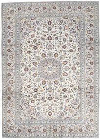 Kashan Tapis 250X346 D'orient Fait Main Gris Clair/Beige Grand (Laine, Perse/Iran)