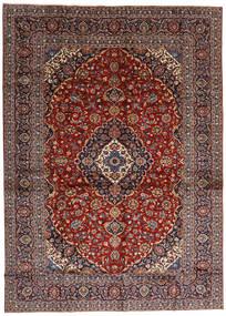 Kashan Tapis 284X397 D'orient Fait Main Rouge Foncé/Marron Foncé Grand (Laine, Perse/Iran)