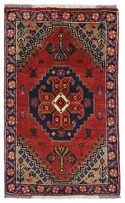 Ghashghaï Tapis 59X96 D'orient Fait Main Rouge Foncé/Violet Foncé (Laine, Perse/Iran)