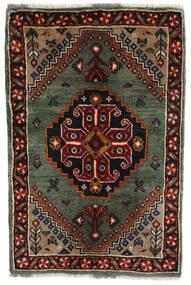 Ghashghaï Tapis 61X92 D'orient Fait Main Marron Foncé/Rouge Foncé/Gris Foncé (Laine, Perse/Iran)